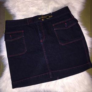 Ralph Lauren   Denim Mini Skirt Dark Wash 14